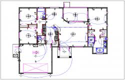 House Plan Layout Plan Layout And Electric Plan Layout View Detail Dwg File