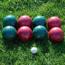 trademark games 90 mm bocce set with carrying case dark red
