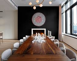 black rustic dining table rustic dining table dining room modern with dining table black wall