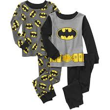 batman baby toddler boy sleeve cotton tight fit pajamas 2