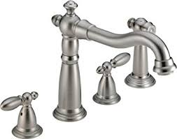 widespread kitchen faucet delta faucet 2256 ss dst two handle widespread kitchen
