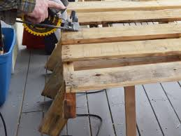How To Make A Table Out Of Pallets How To Make A Wine Rack From A Wood Pallet Hgtv