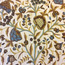 home decorator fabrics online crewel exquisite chainstitch hand embroidered cotton crewel floral