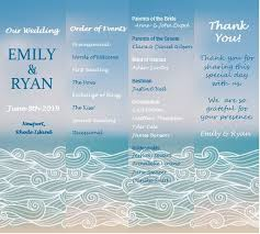 Fan Style Wedding Programs Custom Wedding Program Fan Outside The Box Wedding