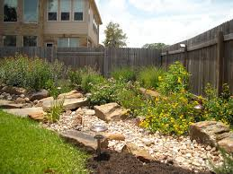 Landscape Design Backyard Ideas by Dry Creek Beds Greeneraustin Com