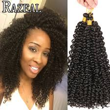 bohemian human braiding hair 14 inch curly crochet hair bohemian freetress crochet braids water