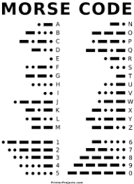 printable morse code letter and number chart