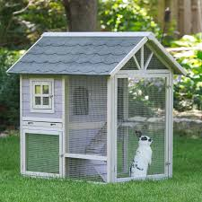 Large Bunny Cage Boomer U0026 George White Wash Outdoor Rabbit Hutch With Extended Run
