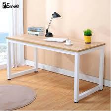 Furniture Unpolished Oak Wood Computer Desk Placed On Light Gray by Light Wood Computer Desk Modern Walnut Wooden Corner Computer Desk