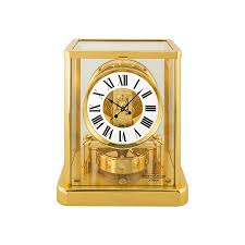 Brass Desk Accessories by Jaeger Lecoultre Atmos Classique White Dial Yellow Gold Coated