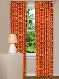 Contemporary Orange Curtains Designs Shiba Sweet Potato Orange Curtains Geometric Designs And