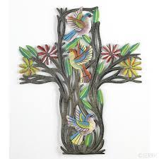 easter haitian floral cross