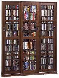 leslie dame media storage cabinet leslie dame ms 1050 glass sliding 3 door multi media storage cabinet
