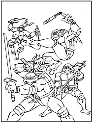 ninja turtles crime crackdown coloring pages kids gcl