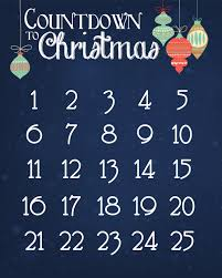 christmas countdown calendar free printable nest for less