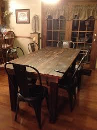 old barn door dining room table dream home pinterest dining