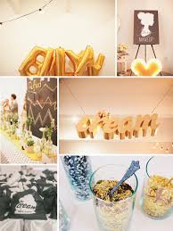 chic wedding reception decor inspiration gold balloons with lots