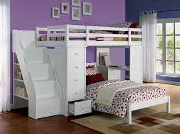white twin loft bed u0026 bookcase ladder