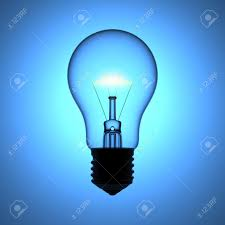 blue free light bulbs a light bulb on the blue background stock photo picture and royalty