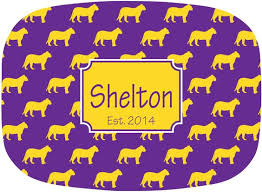 monogrammed platters and trays tiger personalized tailgate tray purple and gold monogrammed