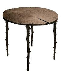 tree ring coffee table brown tree trunk ring table