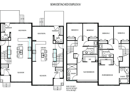 home building plans detached building plans duplex home floor plan 4 2 bedroom semi