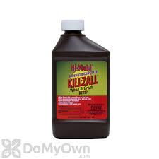 killzall grass and weed killer 41 glyphosate hi yield kill zall