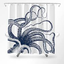 Bathroom Decor Shower Curtains Octopus Shower Curtain Nautical Shower Curtain Octopus