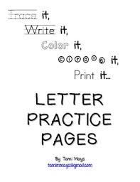 letter practice pages a z by tami mays kindergarten teacher tpt