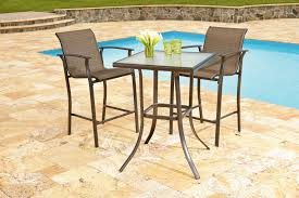 High Patio Table And Chairs Garden Oasis Harrison 3 Piece High Bistro Set Shop Your Way