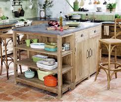 cuisine maisons du monde îlot central en pin recyclé pagnol meuble de cuisine maisons du