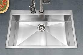 houzer stainless steel zero small radius kitchen sinks