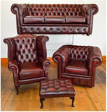Leather Chesterfield Style Sofa Second Chesterfield Sofa