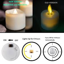 led tea lights with timer tea light candles with timer 6 hours on 18 hours off in 24 hours pack of