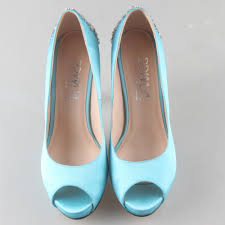 wedding shoes open toe creativesugar custom handmade light turquoise lake blue evening