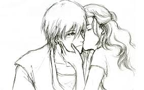 a cute couple sketches cute couple cartoon sketches drawing art