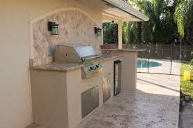 outdoor kitchen backsplash ideas custom outdoor kitchen with granite counter and marble backsplash