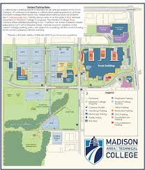 Wright State University Campus Map by Parking Madison Area Technical College