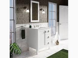 30 Inch Vanity With Drawers K 99530 Lgr Poplin 30 Inch Vanity With Legs 1 Door 3 Drawer