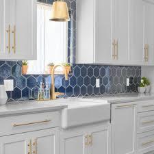 houzz blue kitchen cabinets 75 beautiful purple kitchen pictures ideas april 2021