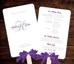 Diy Wedding Fan Programs Monogram Wedding Fan Program Fan Wedding Program Romantic Monogram