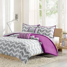 Purple Comforter Set Bedding Twin by Intelligent Design Nadia Comforter Set In Purple Grey White