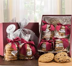 gift cookies chocolate chip cookies and peanut butter cookie in dulcet gift baskets