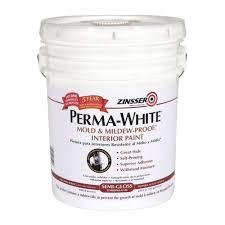 zinsser 5 gal perma white mold and mildew proof semi gloss