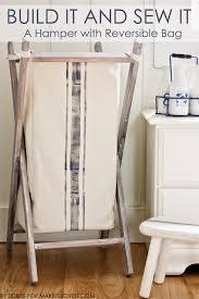 laundry sorters and hampers diy foldable wood hamper
