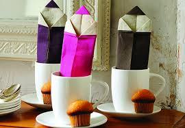 deco de table pour anniversaire pliages de serviettes prima