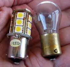 travel trailer led lights replacing incandescent light bulbs with highly efficient led lights
