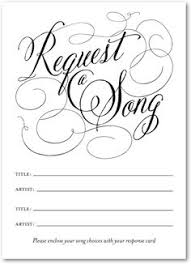 wedding song request cards wedding party song request cards black by delightfultrifles