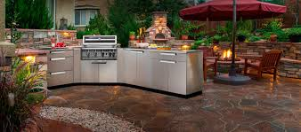 Outside Kitchen Cabinets Outdoor Kitchen Cabinets Stainless Steel 64 With Outdoor Kitchen