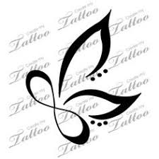 infinity with butterflies search tattoos